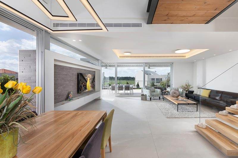 תכנון תאורה לסלון - הדר ברדה